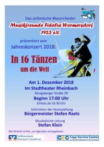 Konzert der Musikfreunde Fidelia Wormersdorf @ Stadtheater
