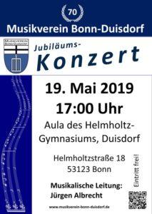 Jubiläumskonzert des Musikverein Bonn-Duisdorf @ Aula des Helmholtz-Gymnasiums