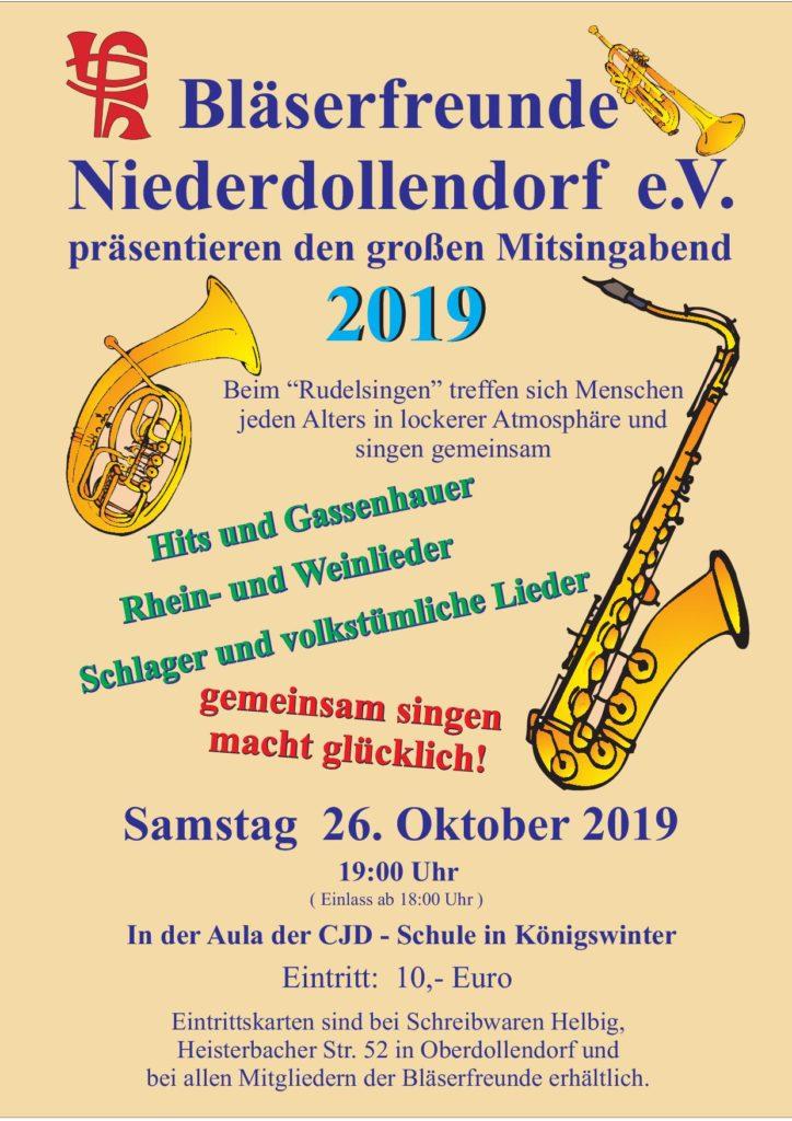 Mitsingkonzert der Bläserfreunde Niederdollendorf @ Aula der CJD-Schule