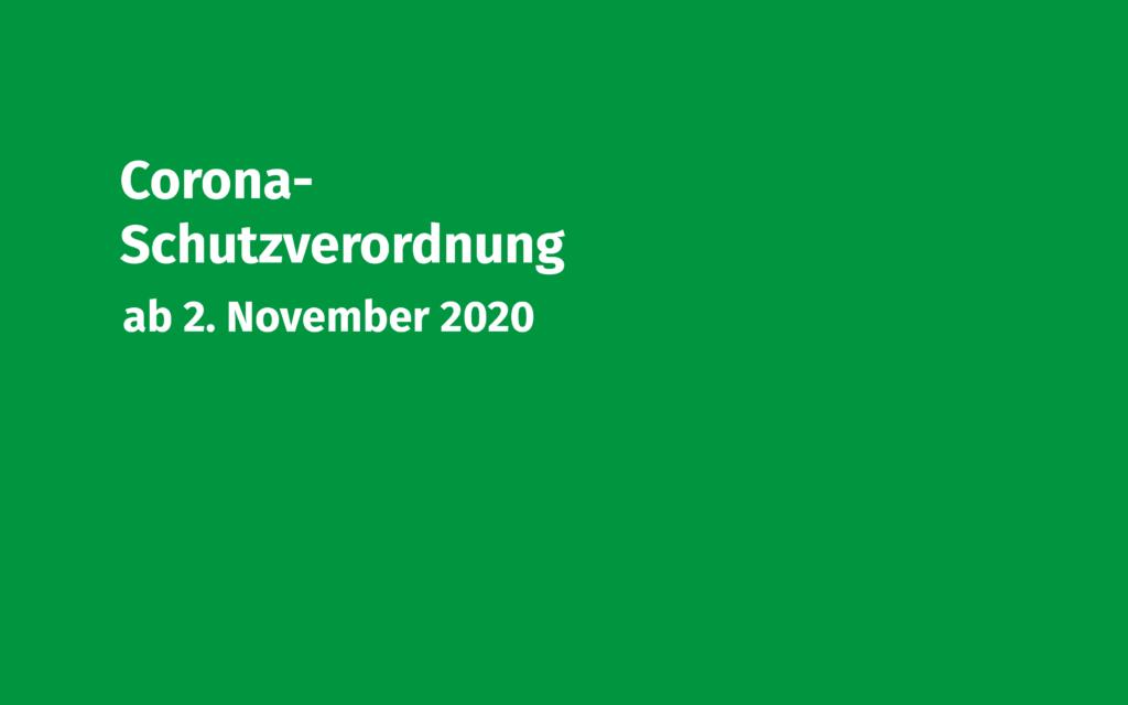 Corona-Schutzverordnung 2.11.2020 Volksmusikerbund NRW