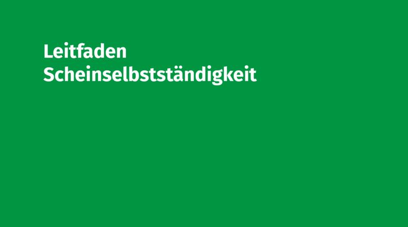 Leitfaden Scheinselbstständigkeit Volksmusikerbund NRW